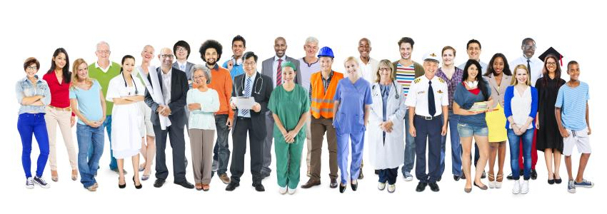 Jobs in Alabama - group of people with diverse careers