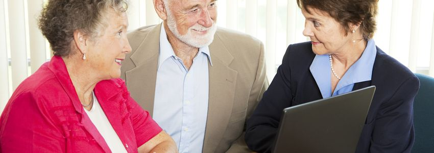 Financial Job Skills in Birmingham, Alabama - accountant discussing finances with seniors